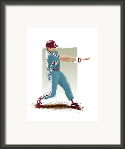 Mike Schmidt Framed Print By Scott Weigner
