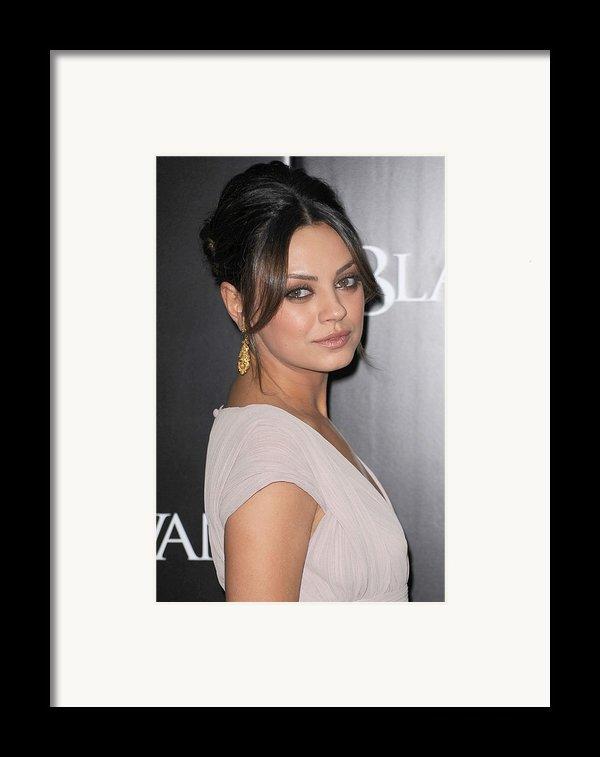Mila Kunis At Arrivals For Black Swan Framed Print By Everett