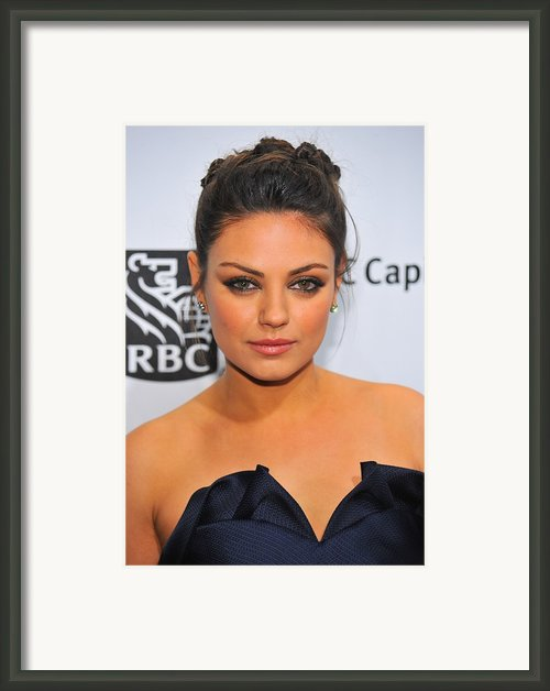 Mila Kunis At Arrivals For Ifps 20th Framed Print By Everett