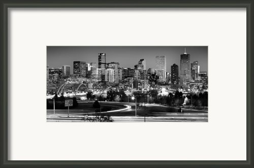 Mile High Skyline Framed Print By Kevin Munro