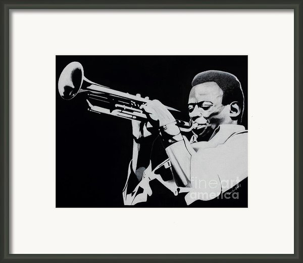 Miles Davis Framed Print By Dan Lockaby