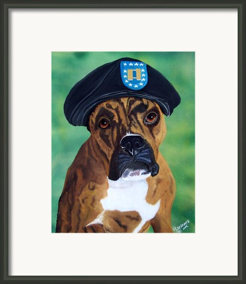 Military Boxer Framed Print By Debbie Lafrance
