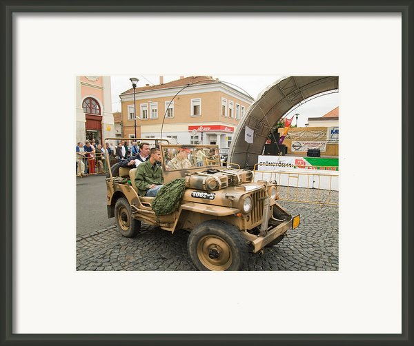 Military Old Car Framed Print By Odon Czintos