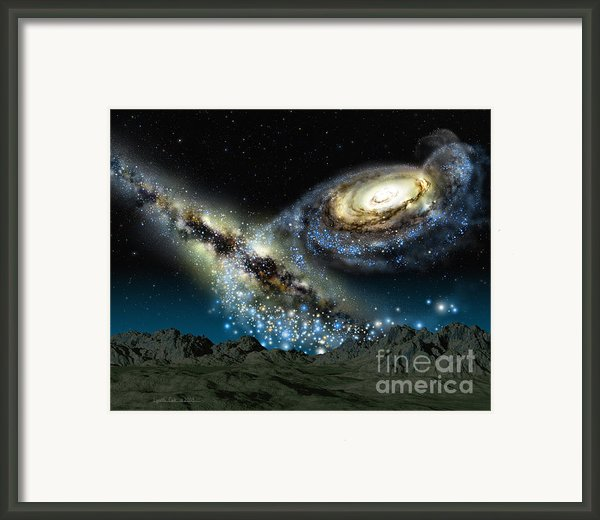 Milkomeda Framed Print By Lynette Cook