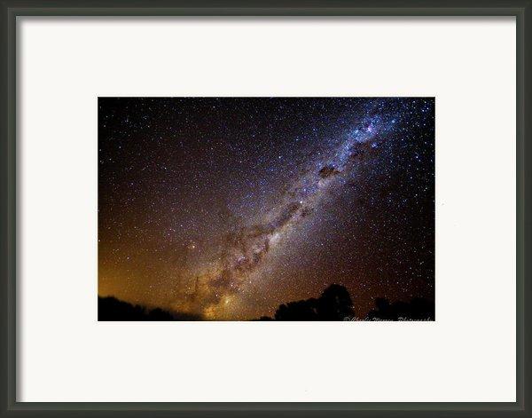 Milky Way Down Under Framed Print By Charles Warren