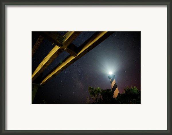Milky Way Inside Hatteras Light Pavillon Framed Print By Daniel Lowe
