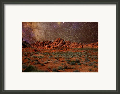 Milky Way Rising Over The Valley Of Fire Framed Print By Charles Warren