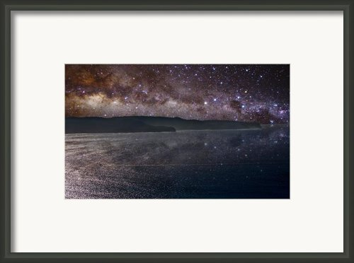 Milky Way Sets Over Ku-ring-gai Framed Print By Charles Warren