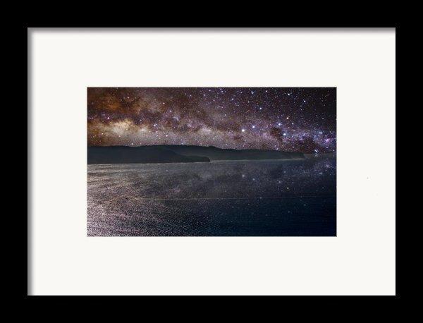 Milky Way Sets Over Ku-ring-gai Framed Print By Charles Warren