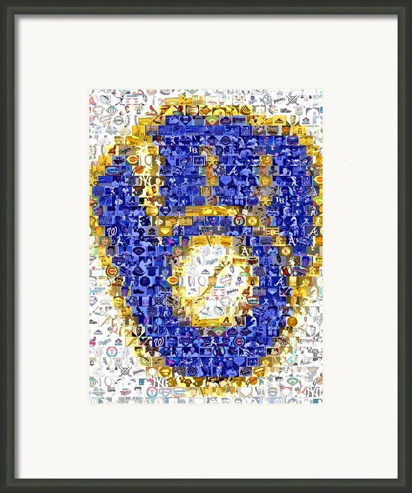 Milwaukee Brewers Mosaic Framed Print By Paul Van Scott