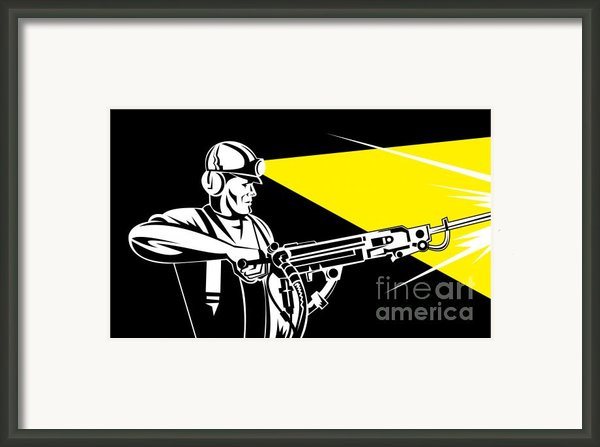 Miner With Jack Leg Drill Framed Print By Aloysius Patrimonio