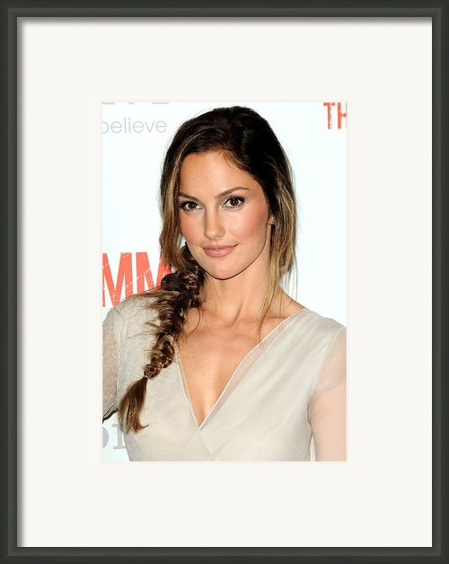 Minka Kelly At Arrivals For The Framed Print By Everett