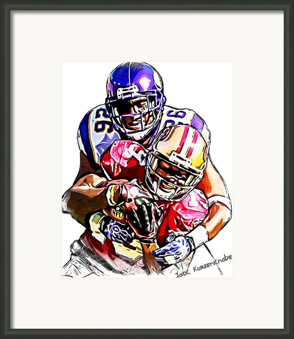 Minnesota Vikings Antoine Winfield - San Francisco 49ers Ted Ginn Jr Framed Print By Jack Kurzenknabe