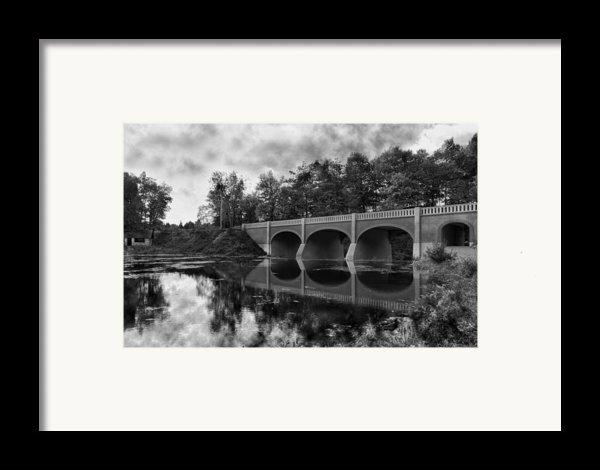 Mirror Bridge Framed Print By Peter Chilelli