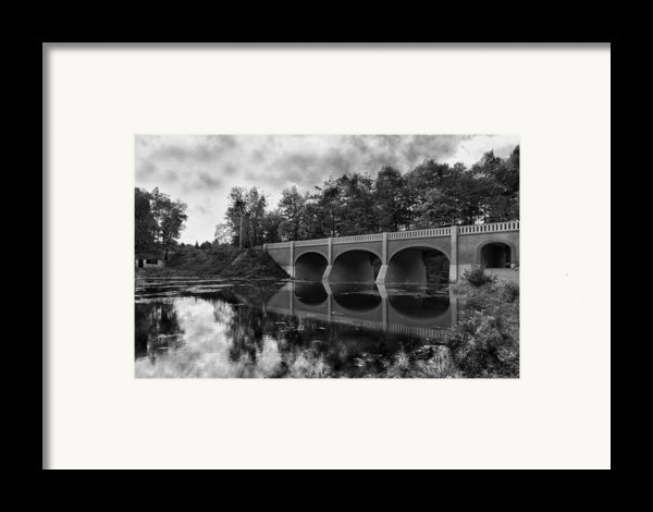 Mirror Bridge Framed Print By Peter Chilelli