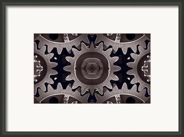 Mirror Gears Framed Print By Steve Gadomski