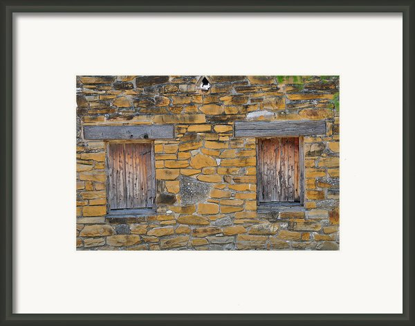 Mission Dwelling Windows Framed Print By Peter  Mcintosh