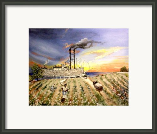 Mississippi Cotton Boat Framed Print By Terri Flowers