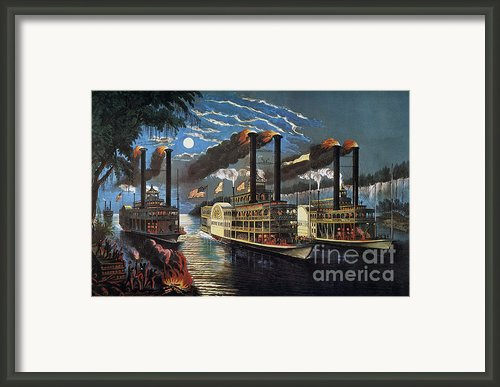 Mississippi River Race Framed Print By Granger