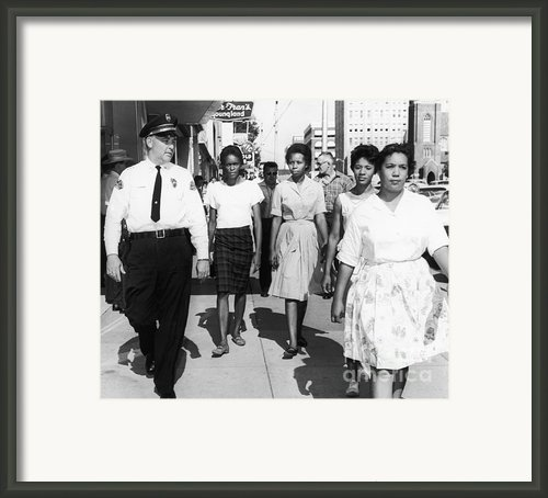 Mississippi: Sit-in, 1963 Framed Print By Granger