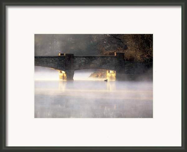 Misty Bridge Sunrise Framed Print By Vicki Jauron