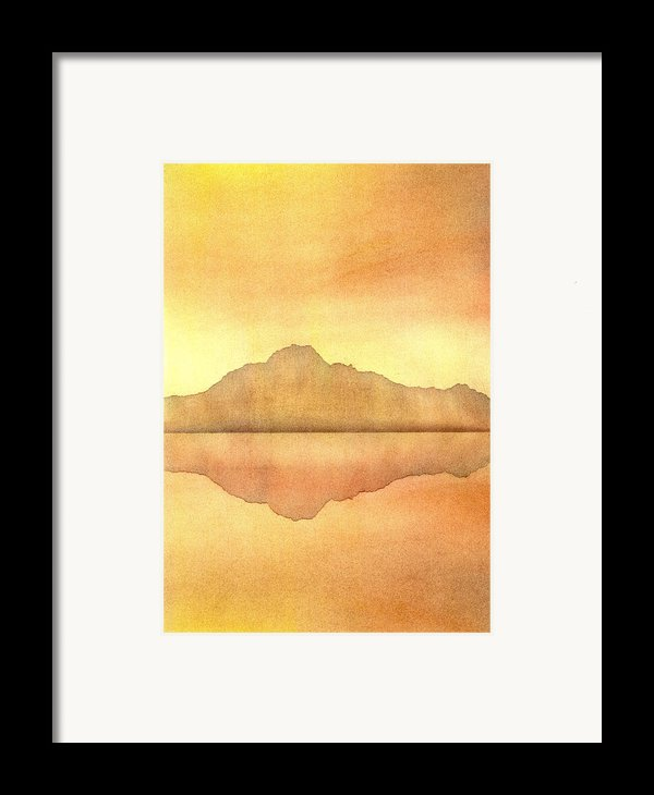 Misty Sunset Framed Print By Hakon Soreide