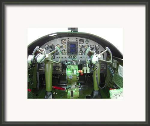 Mitchell B-25 Bomber Cockpit Framed Print By Don Struke