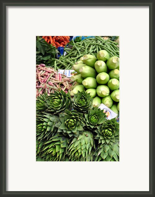 Mixed Vegetables. Framed Print By Fernando Barozza