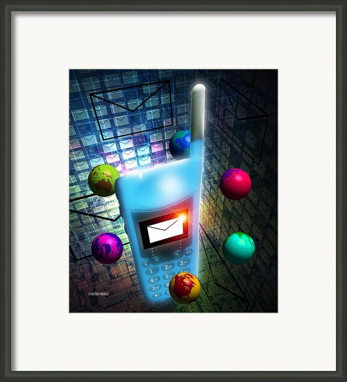 Mobile Telephone Text Messaging Framed Print By Victor Habbick Visions