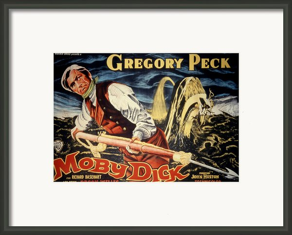 Moby Dick, Gregory Peck, 1956 Framed Print By Everett