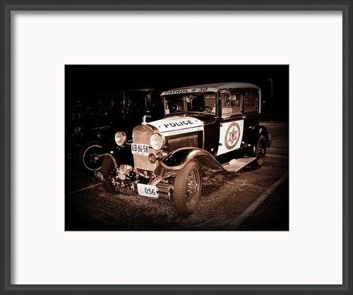 Model A Culver City Police Bw Framed Print By David Dunham