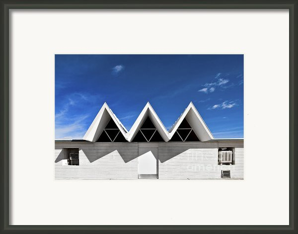 Modern Building Roofing Framed Print By Eddy Joaquim