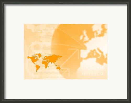 Modern Technology And Globalization Framed Print By Andre Babiak