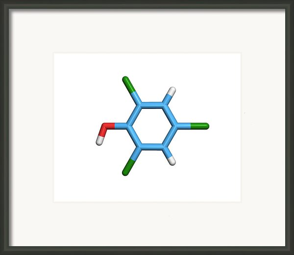 Molecule Of A Component Of Tcp Antiseptic Framed Print By Dr Tim Evans