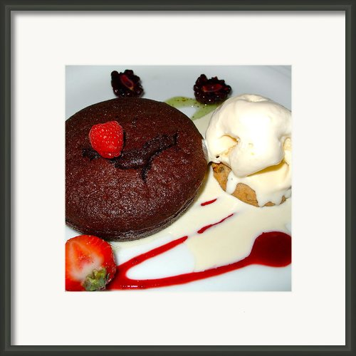 Molten Chocolate Lava Cake Framed Print By Karon Melillo Devega