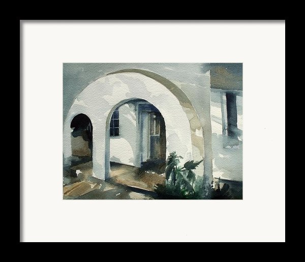 Mombasa Archway Framed Print By Stephanie Aarons
