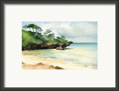 Mombasa Beach Framed Print By Stephanie Aarons