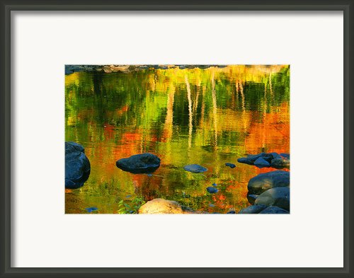 Monet Autumnal Framed Print By Aimelle