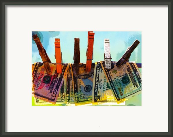 Money Laundering  Framed Print By Karon Melillo Devega