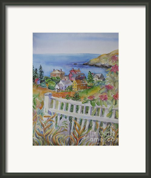 Monhegan Village Framed Print By Cori Caputo