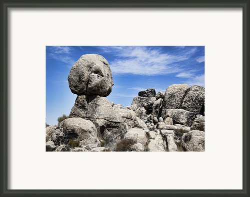Monolithic Stone Framed Print By Kelley King