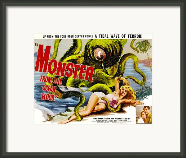 Monster From The Ocean Floor, Anne Framed Print By Everett