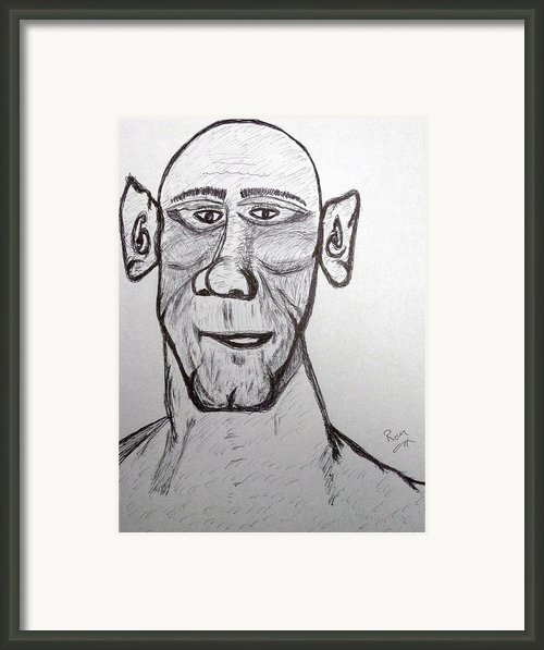 Monster Tom And His Radar Ears Framed Print By Robert Margetts