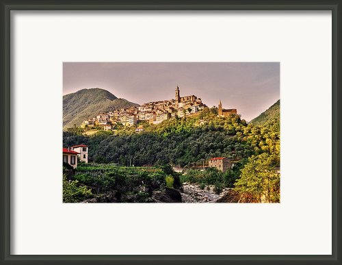 Montalto Ligure - Italy Framed Print By Juergen Weiss