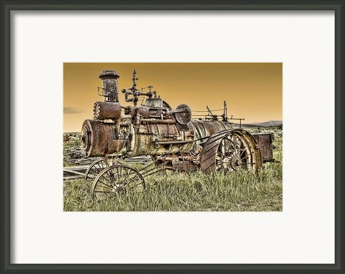 Montana Steam Punk - Nevada City Ghost Town Framed Print By Daniel Hagerman