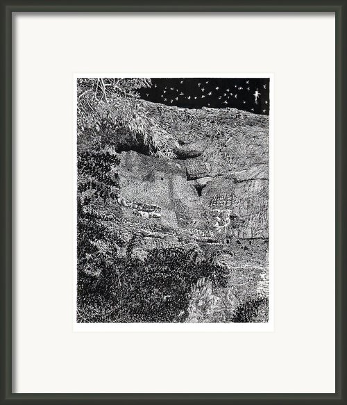 Montezuma Castle  Framed Print By Jack Pumphrey