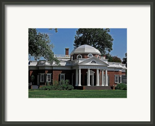 Monticello Framed Print By Digiart Diaries By Vicky Browning