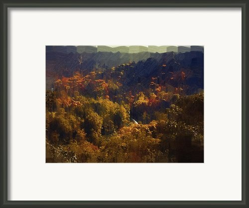 Montour Trail In Fall Framed Print By Chris Reed