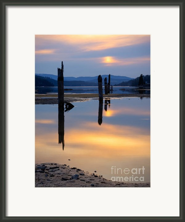 Mood On The Bay Framed Print By Idaho Scenic Images Linda Lantzy