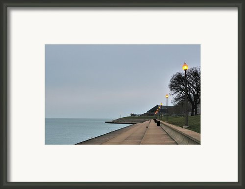 Moody And Lonely Lakefront Framed Print By Bruce Leighty